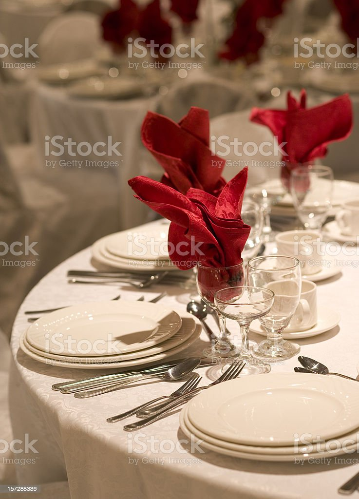 Guest table royalty-free stock photo