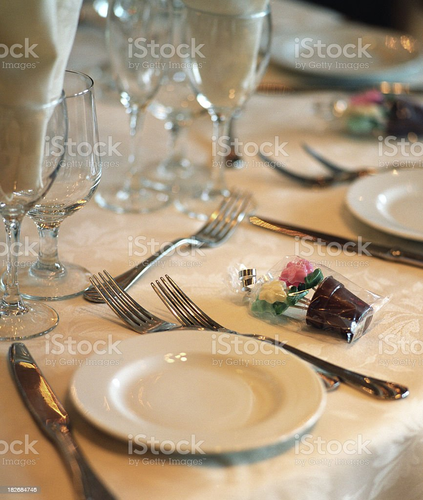 Guest table spot royalty-free stock photo