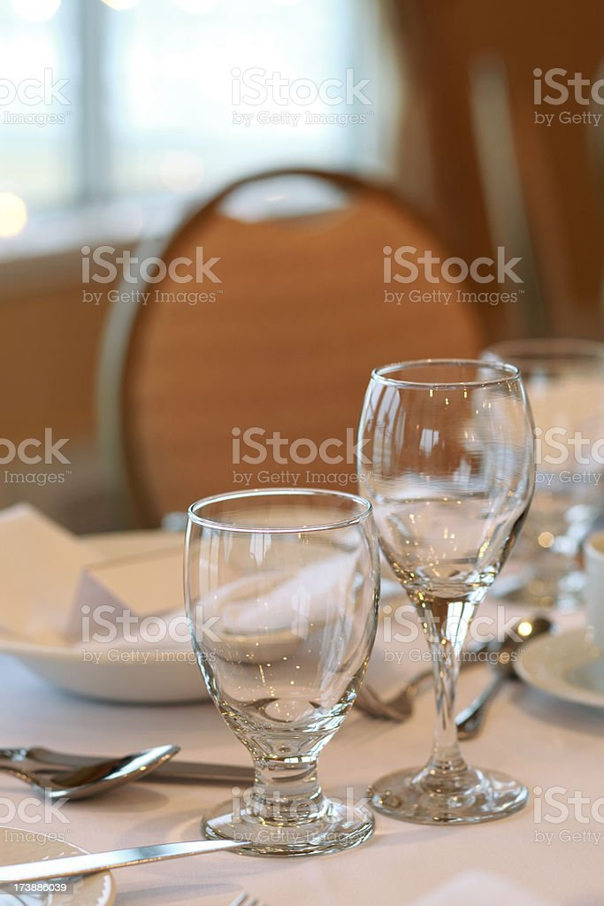 Guest Tables setting for dinner royalty-free stock photo