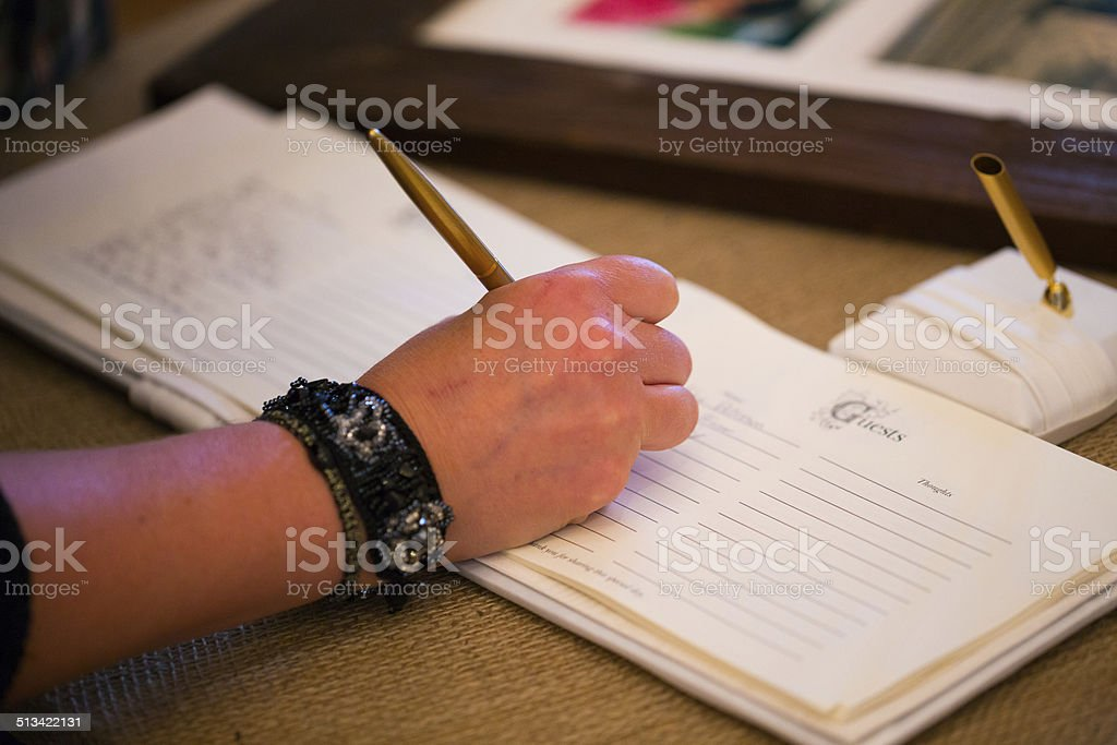 Guestbook Signing stock photo