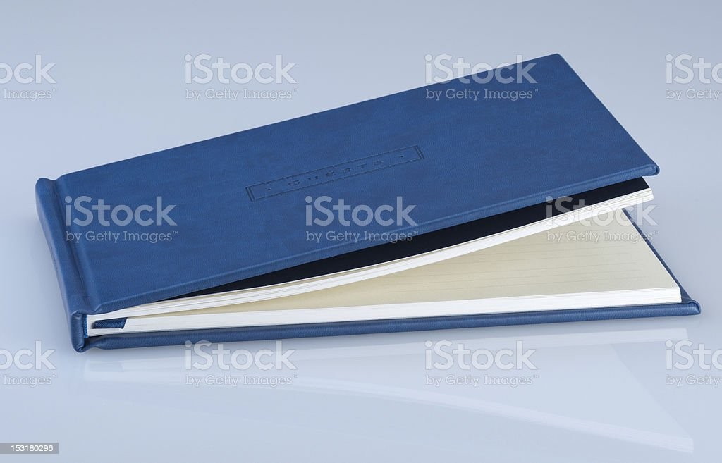 Guests book royalty-free stock photo
