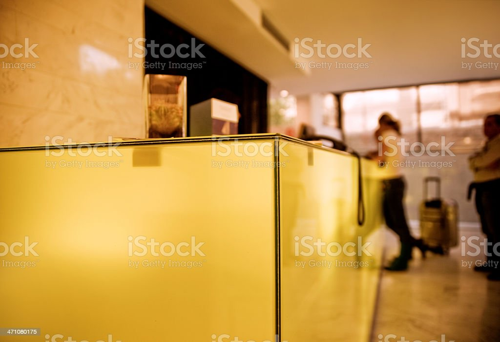 Guests Checking In royalty-free stock photo