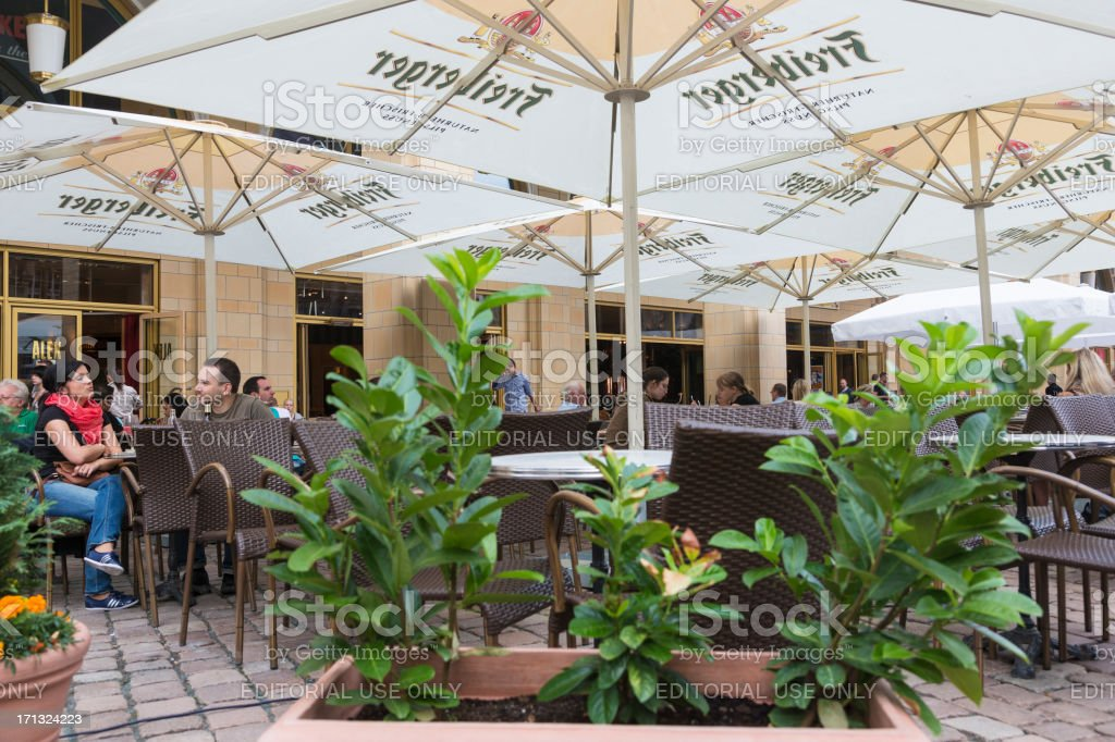 Guests of an outdoor restaurant royalty-free stock photo