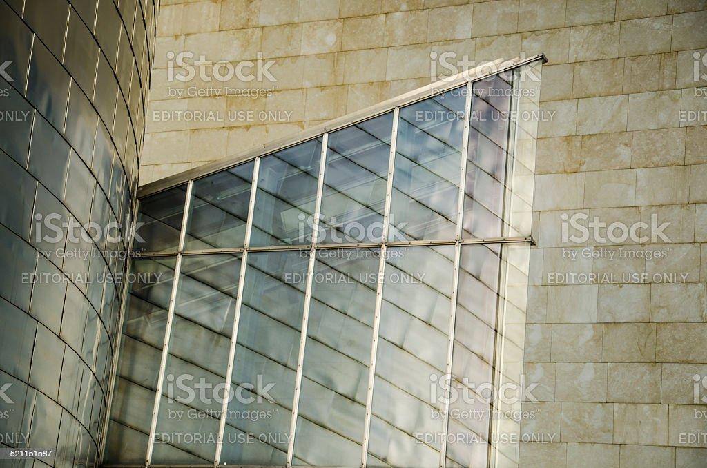 Guggenheim museum Bilbao, detail stock photo