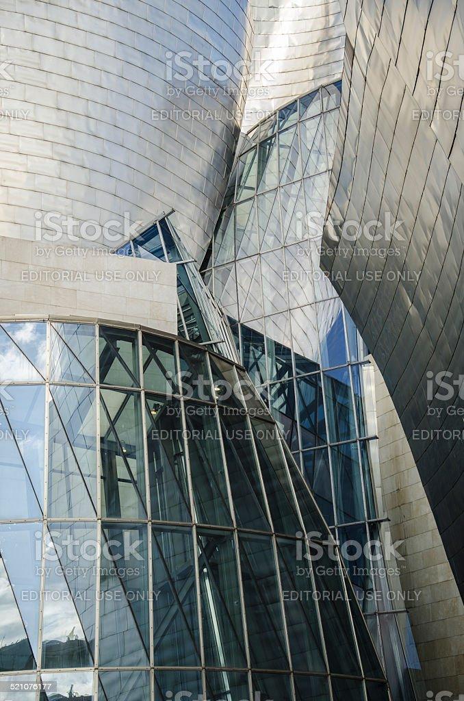 Guggenheim museum Bilbao, exterior detail stock photo
