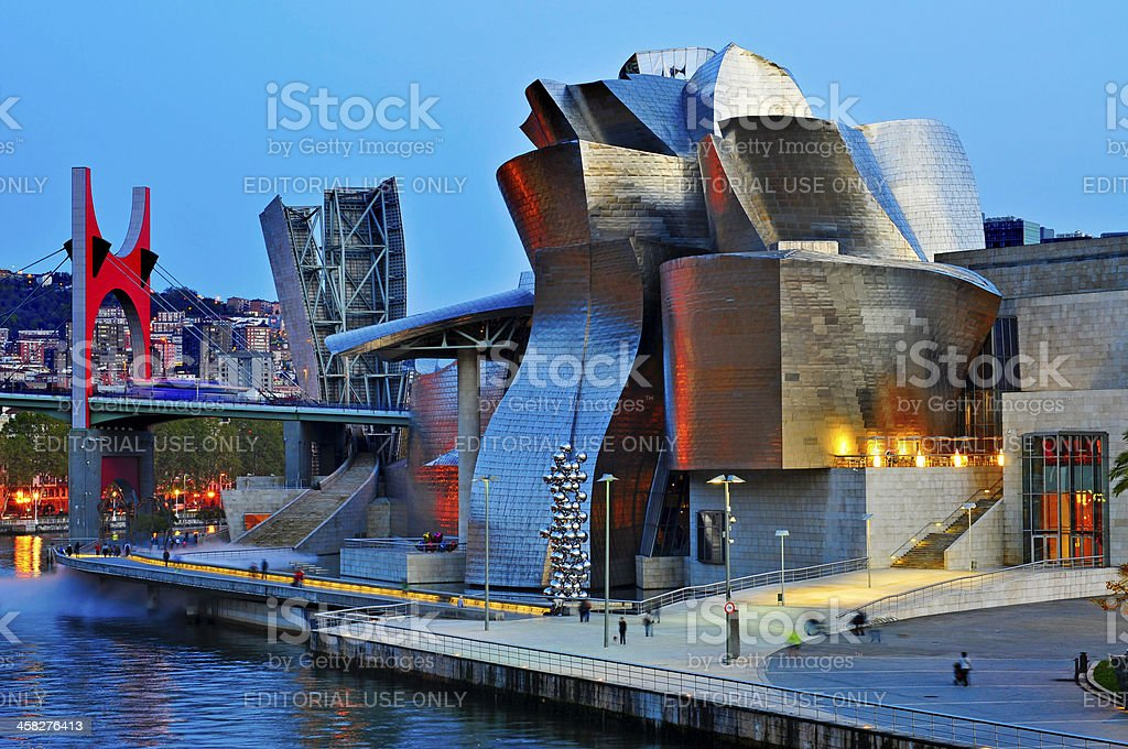 Guggenheim Museum in Bilbao stock photo