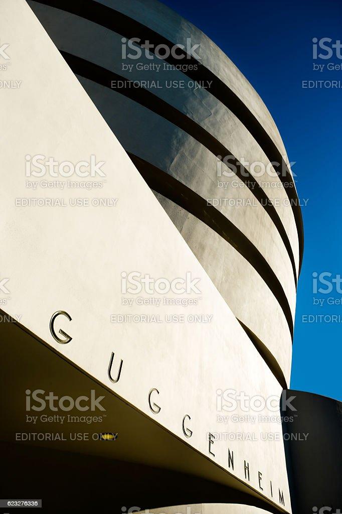 Guggenheim Museum in New York City stock photo
