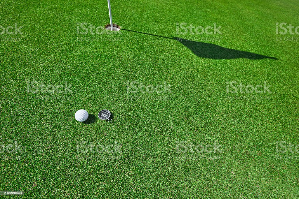 guidance for the golf hole stock photo