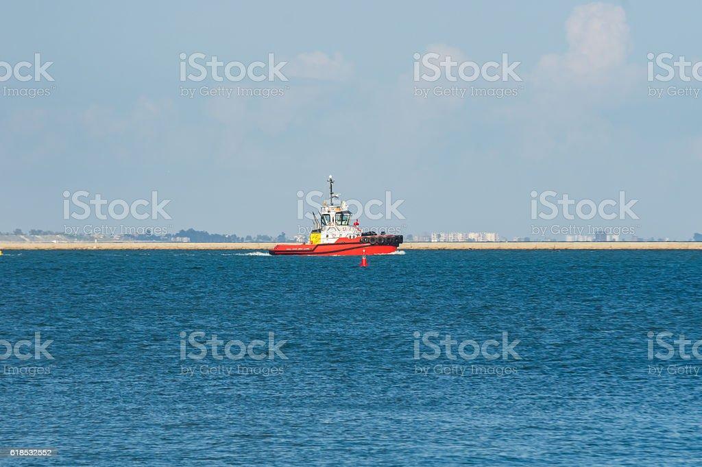 guide ships stock photo