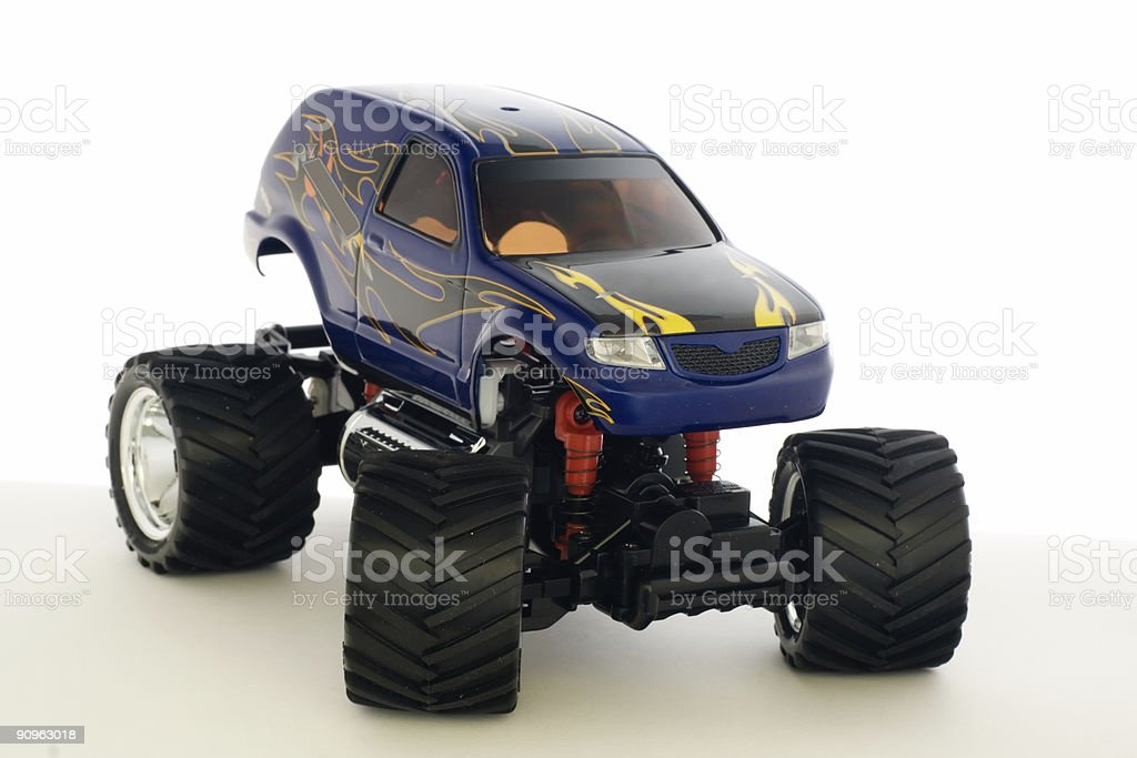 guided by radio model of speed car stock photo