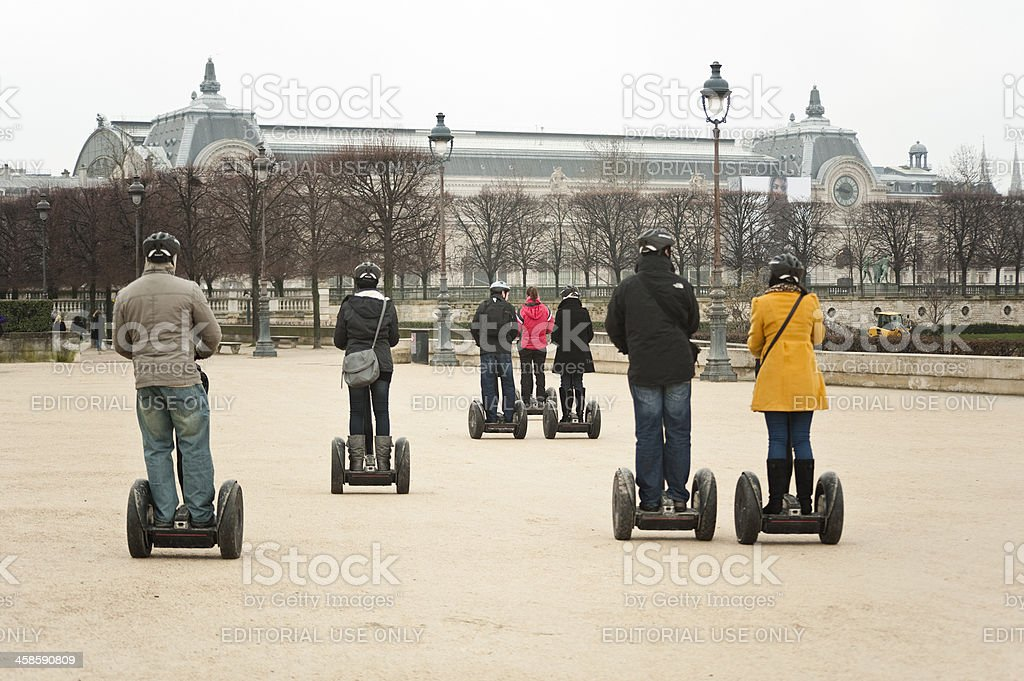Guided Segway Tour of Paris royalty-free stock photo