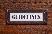 guidelines file cabinet label