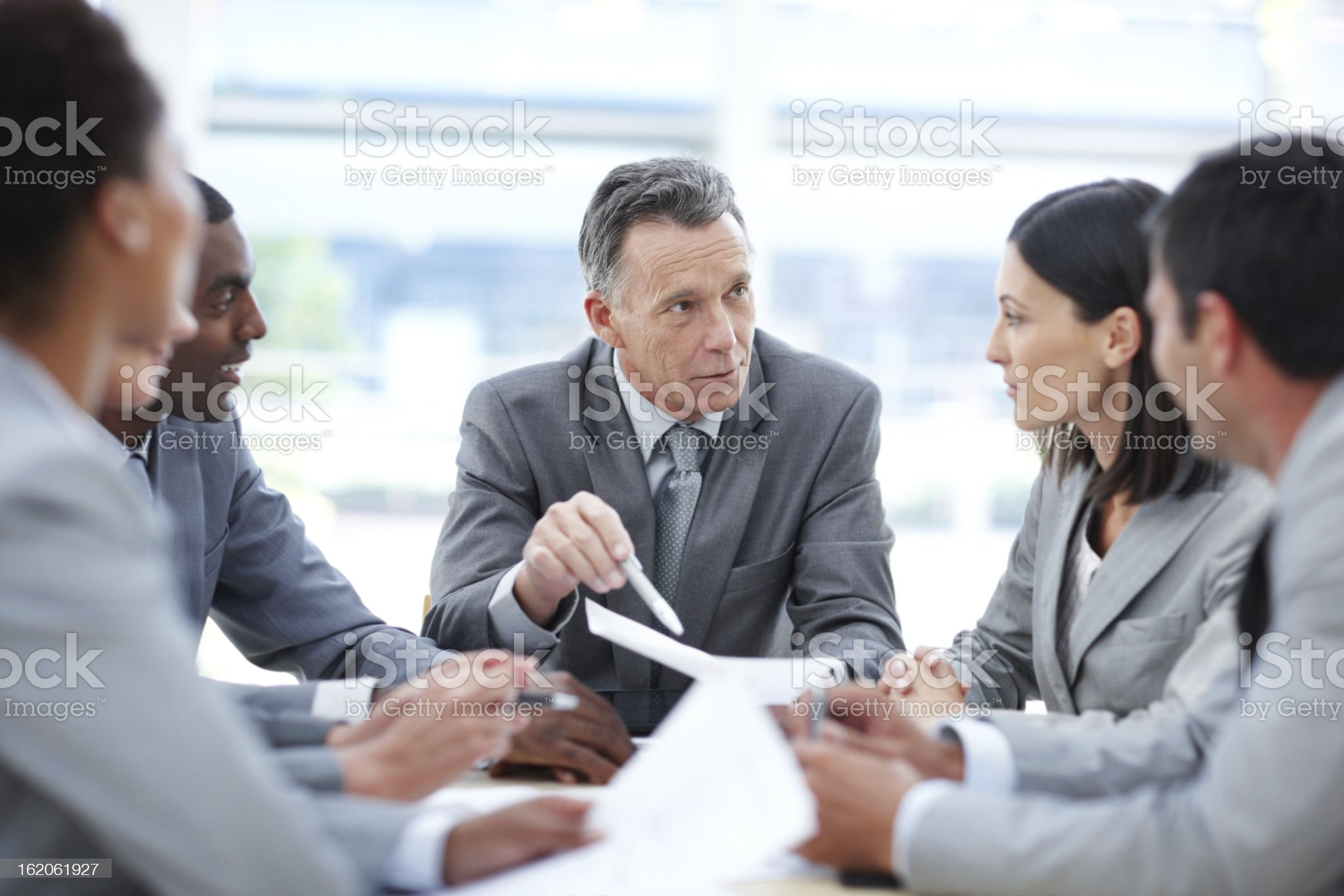Guiding his team to success royalty-free stock photo