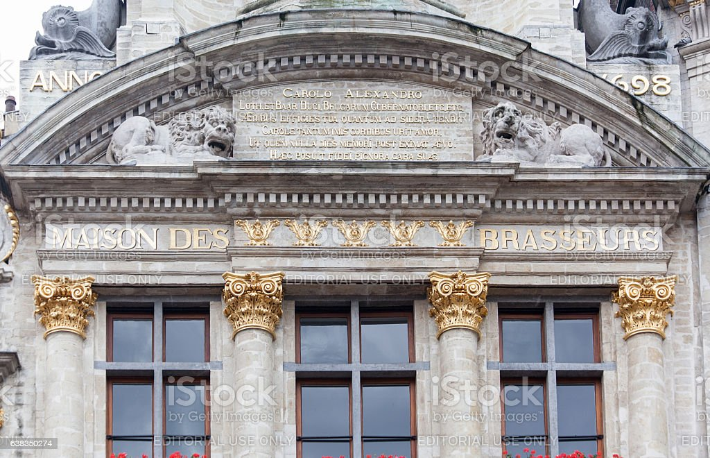Guild House in Grand Place Brussels stock photo