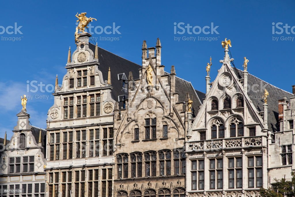 Guild Houses in Antwerp stock photo
