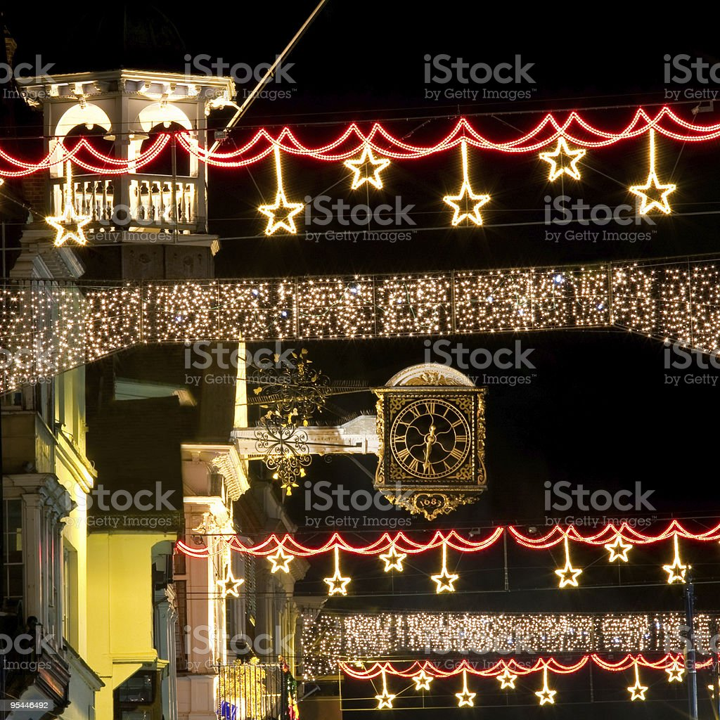 Guildford At Christmas stock photo