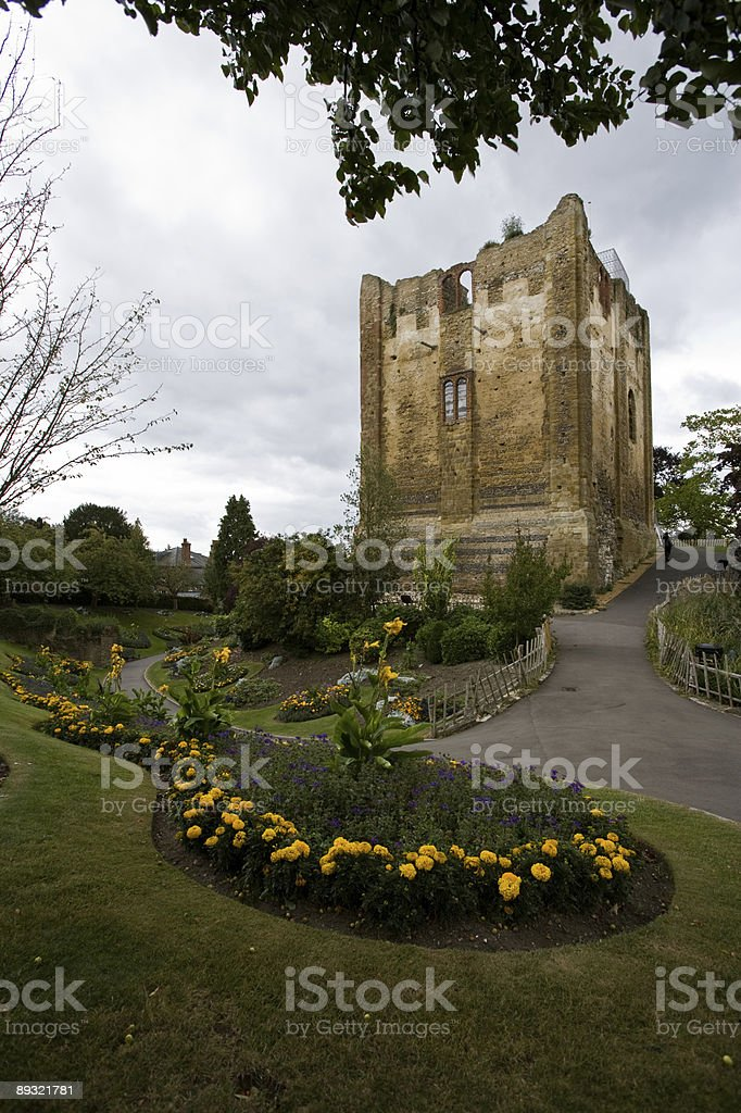 Guildford Castle grounds stock photo