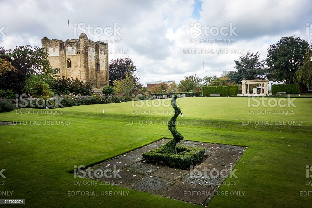 Guildford Castle stock photo
