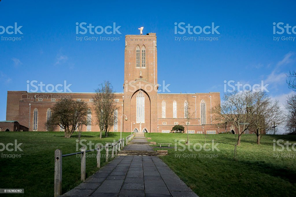 Guildford Cathedral stock photo