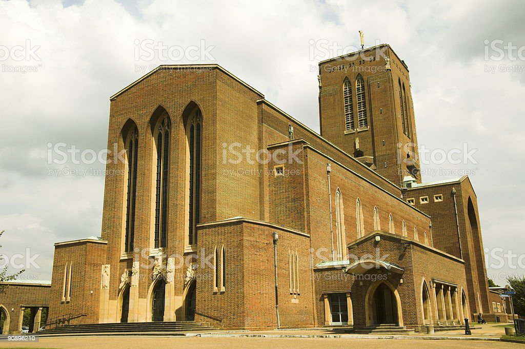 Guildford Cathedral, Surrey, England stock photo
