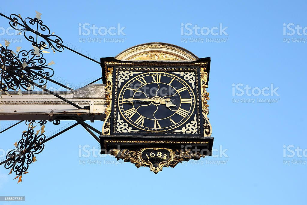 Guildford clock stock photo