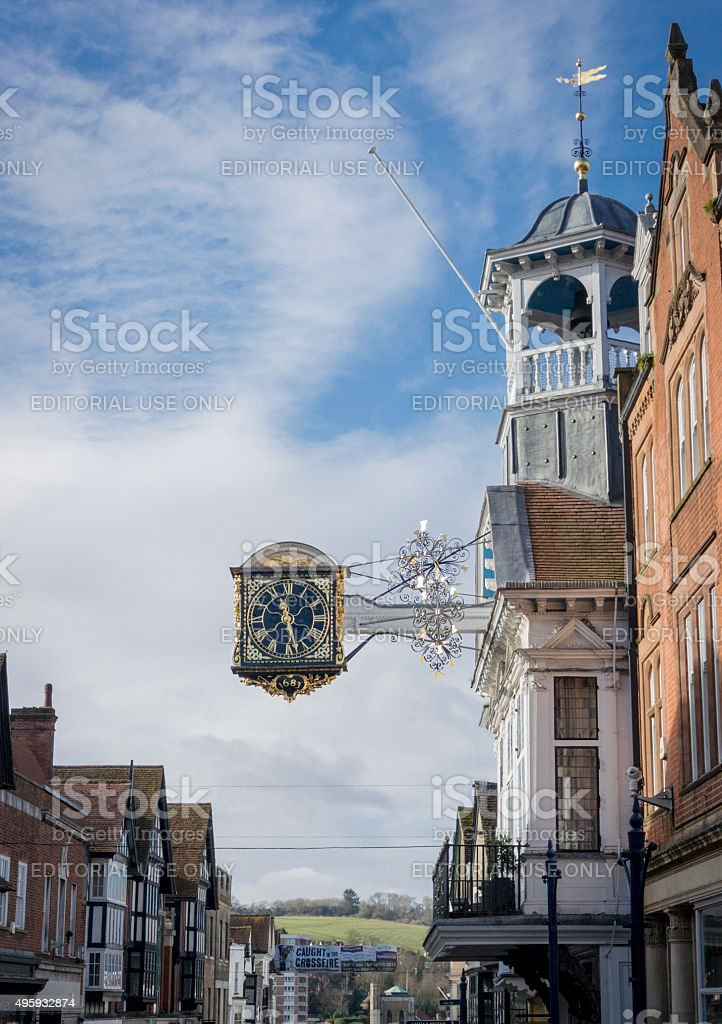 Guildford High Street stock photo