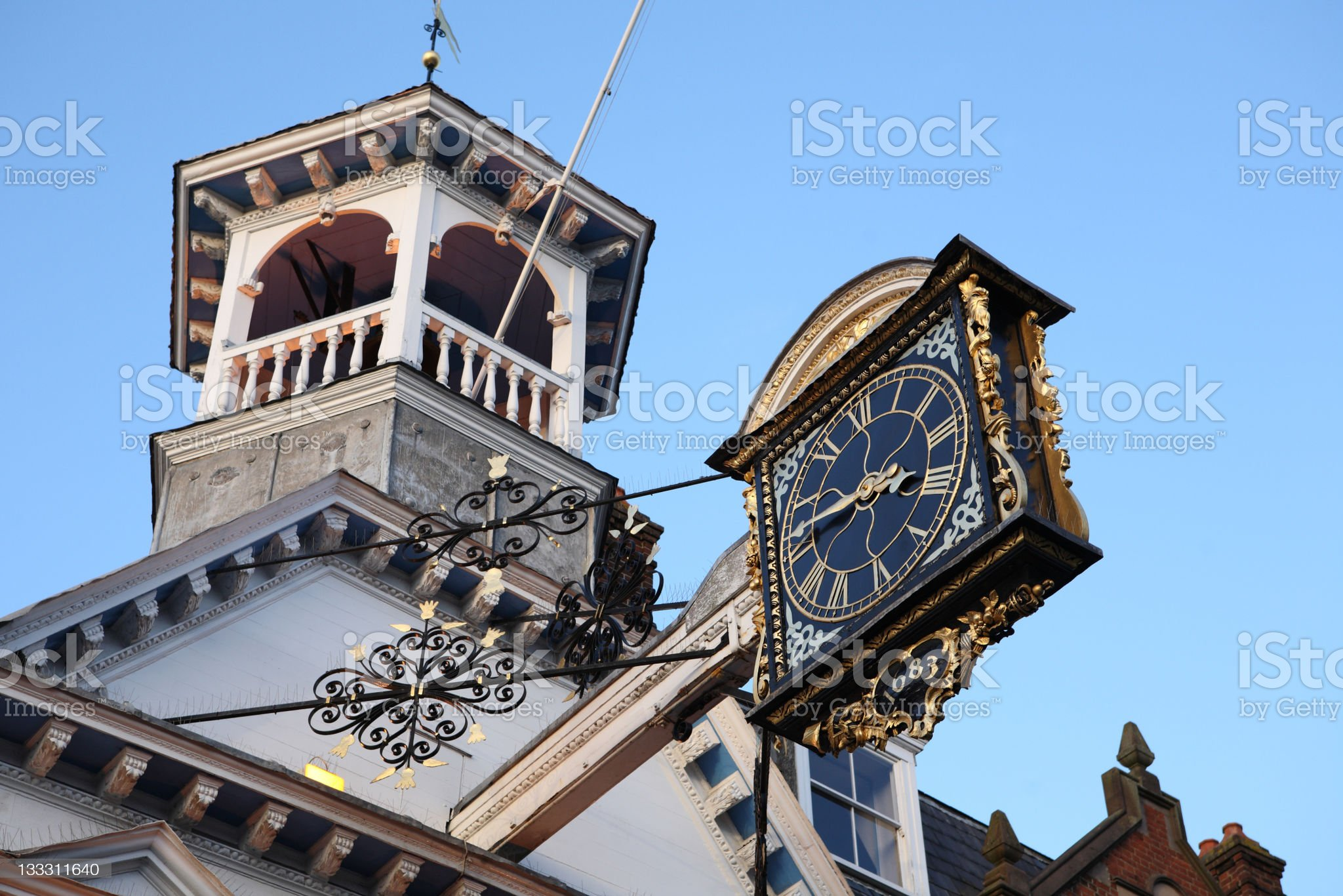 Guildford town clock royalty-free stock photo