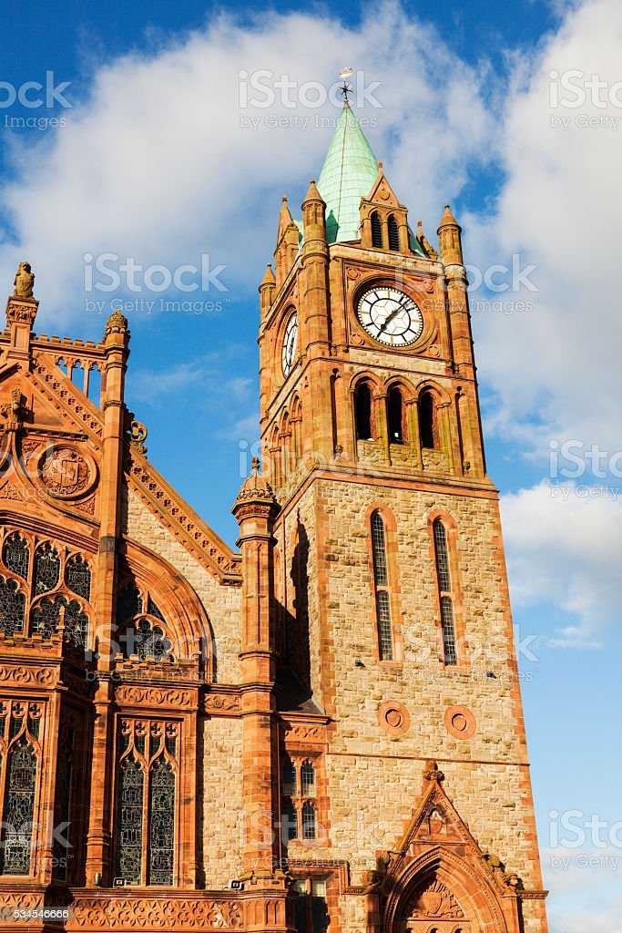 Guildhall in Derry stock photo
