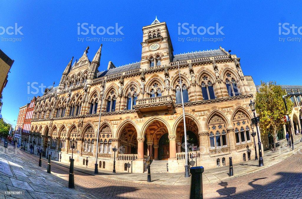 Guildhall Northampton stock photo