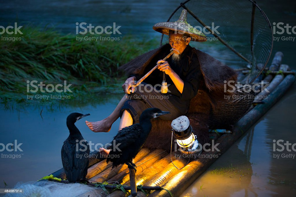 Guilin fisherman stock photo