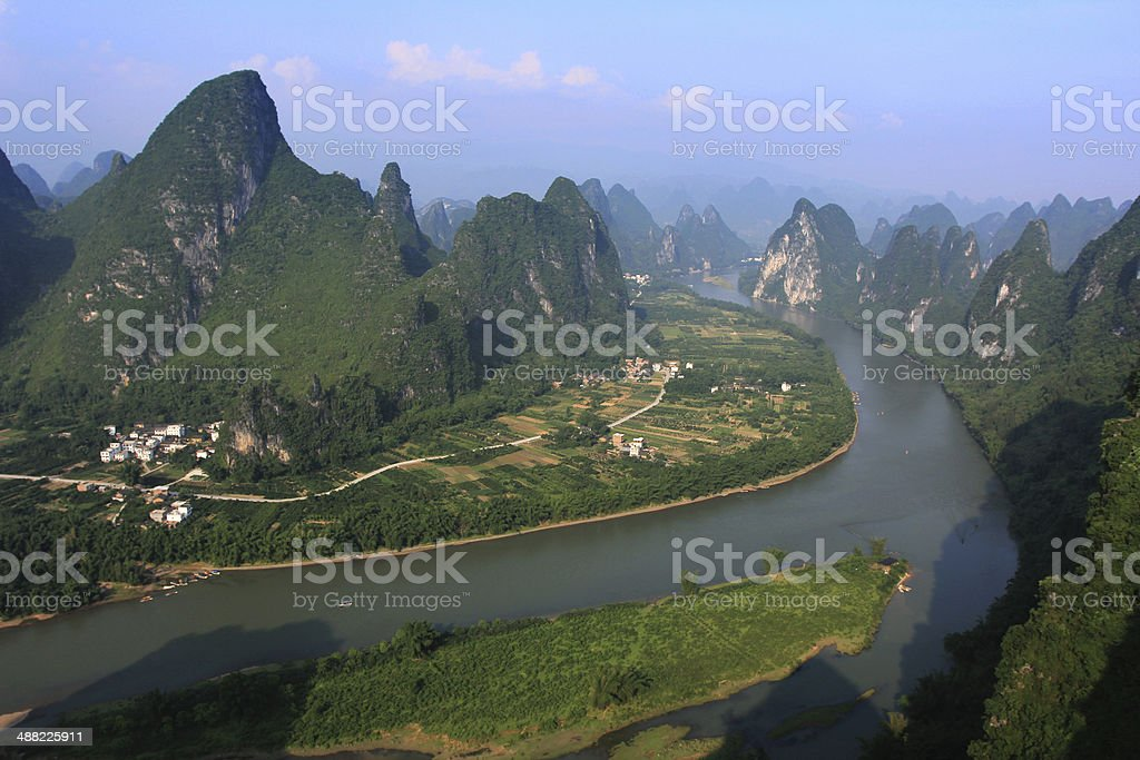 Guilin landscape stock photo