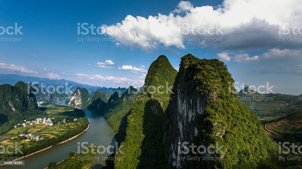 Guilin landscape stock photo