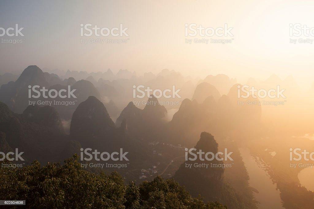 Guilin landscape,China stock photo