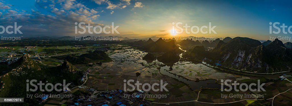 Guilin landscape,China stock photo