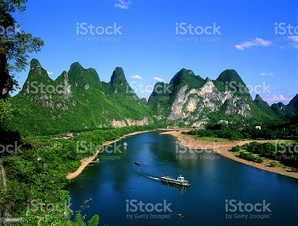 Guilin night horses draw a hill royalty-free stock photo