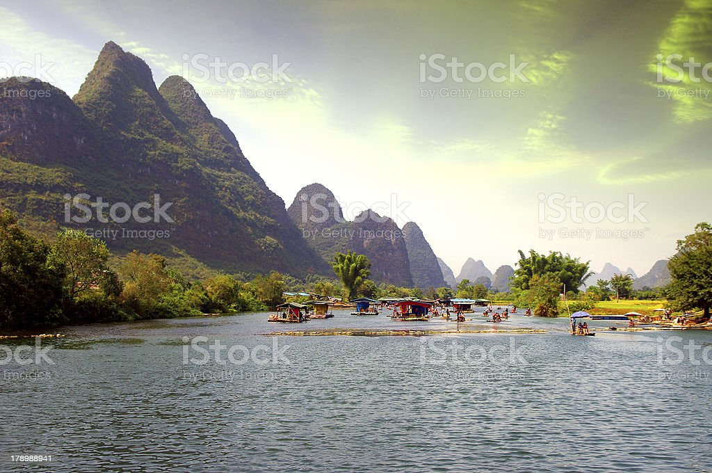 Guilin Raft rafting royalty-free stock photo