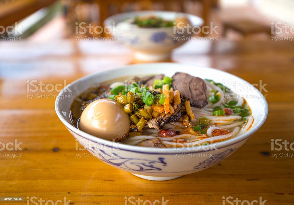 guilin rice noodles stock photo