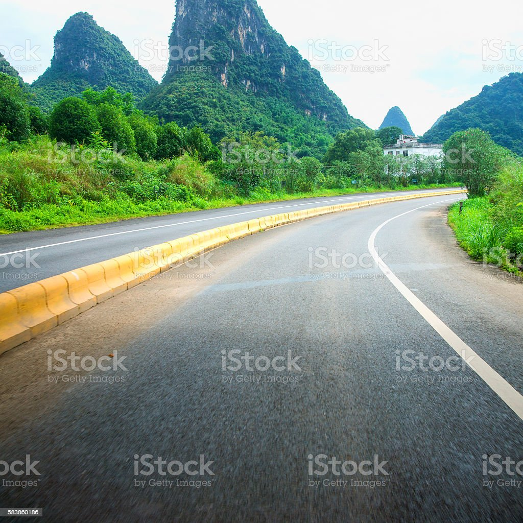 Guilin Road stock photo