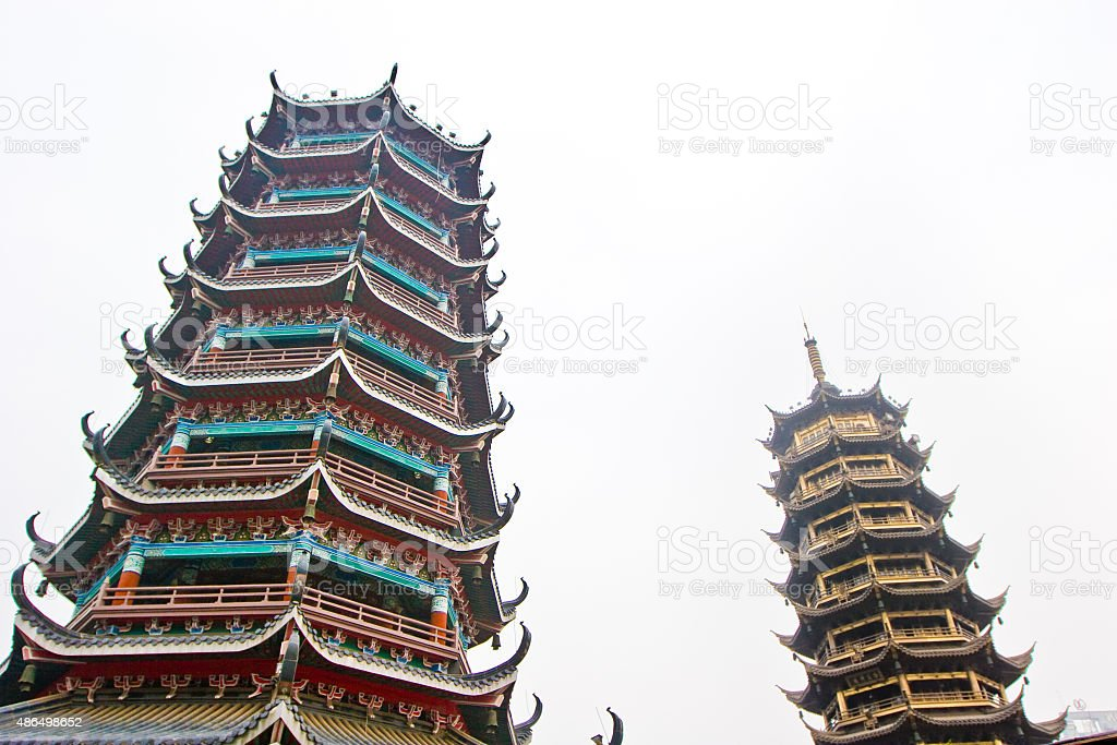 Guilin tower stock photo