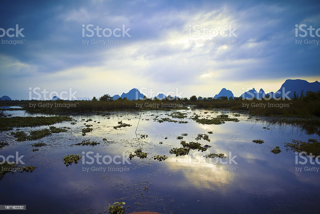 Guilin wetland royalty-free stock photo