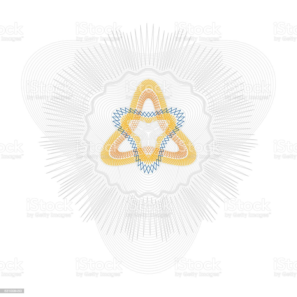 guilloche vector elements stock photo