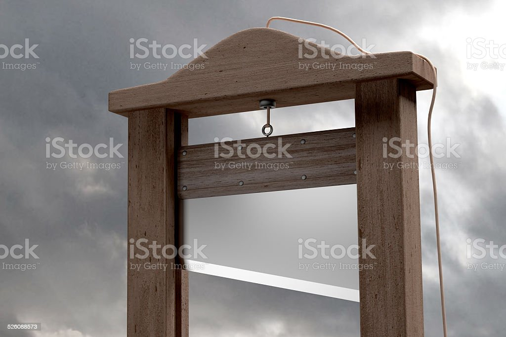Guillotine stock photo