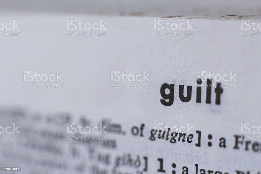 Guilt royalty-free stock photo