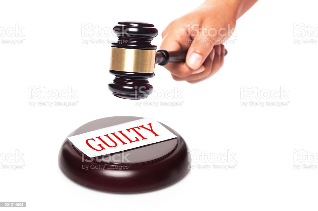 Guilty stock photo
