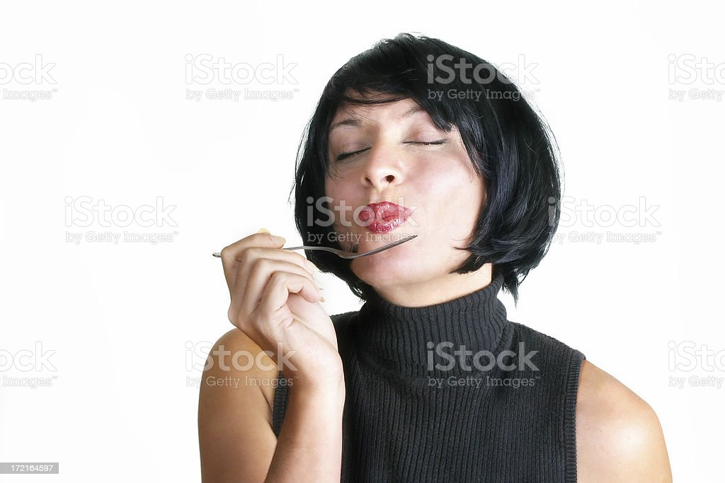 Guilty pleasure stock photo
