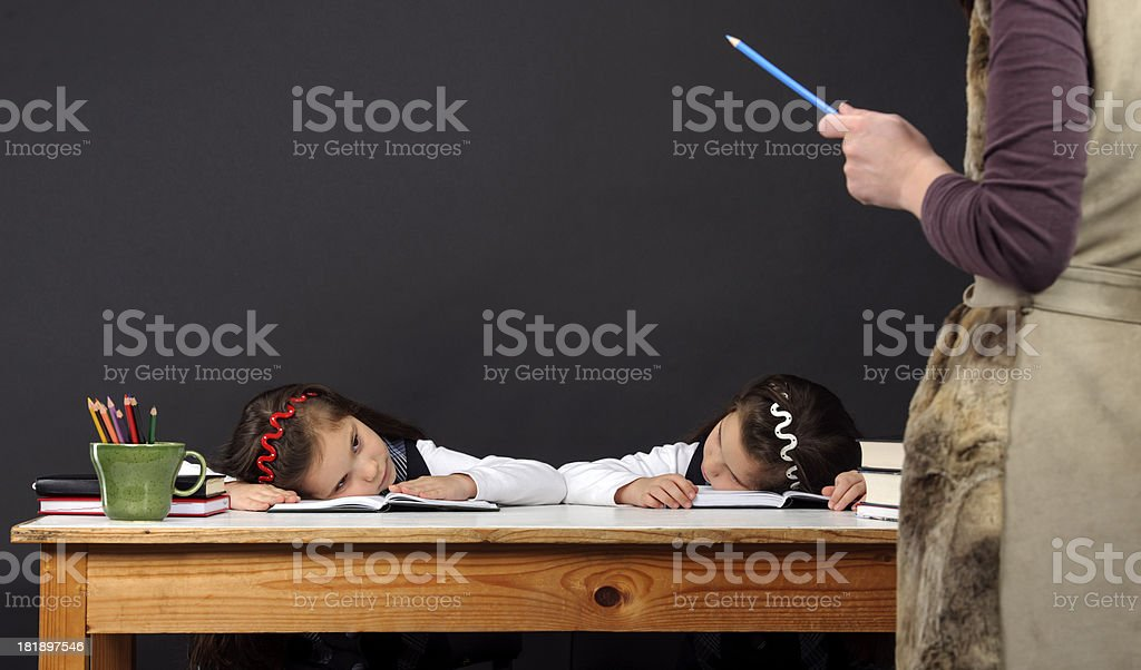 guilty school girls royalty-free stock photo