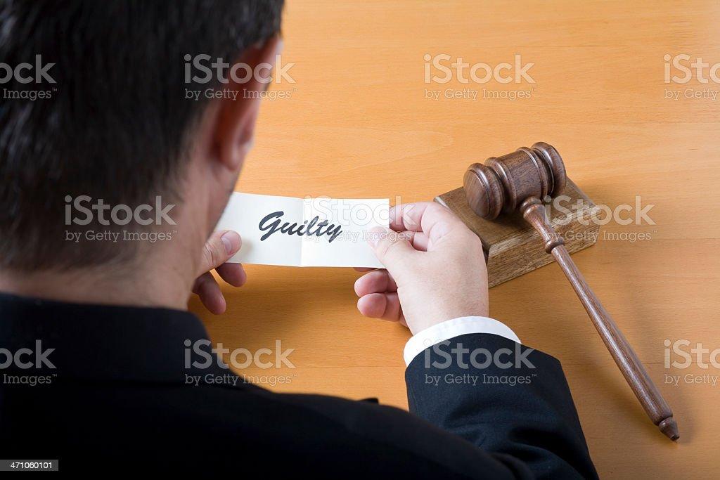Guilty verdict royalty-free stock photo