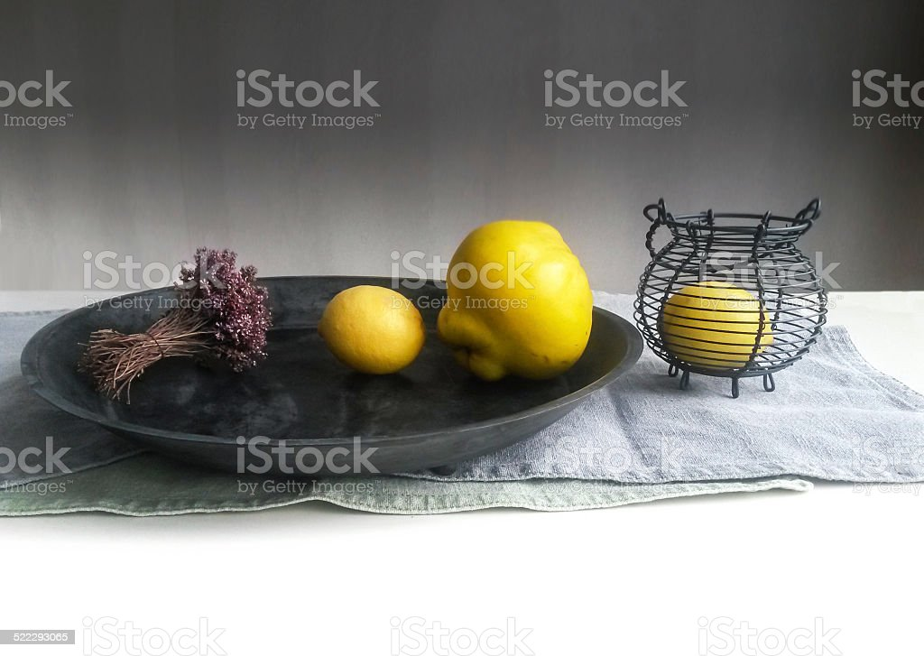 Guince lemon thyme stock photo