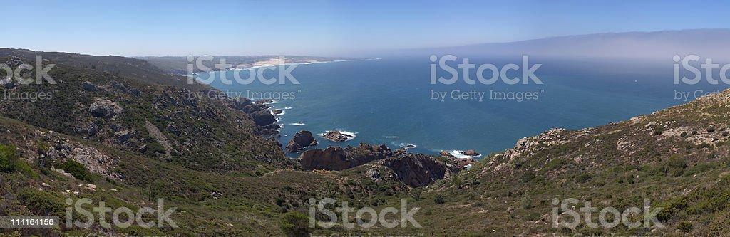 Guincho beach from Cabo da Roca royalty-free stock photo