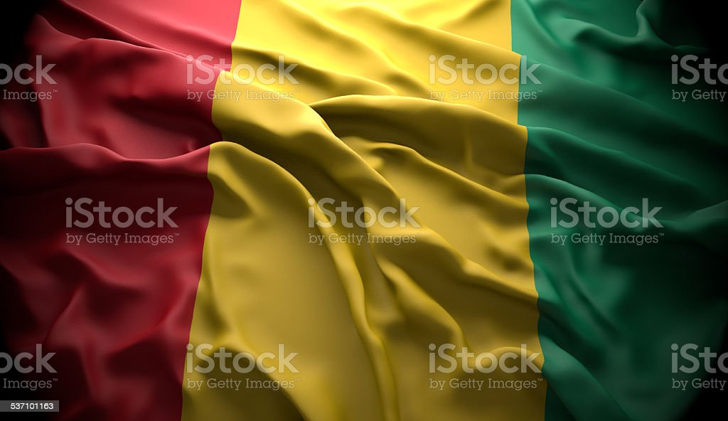 Guinea, Conakry national official state flag stock photo